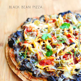 Mexican Black Bean Pizza