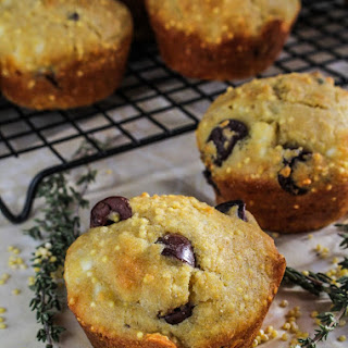 Gluten-Free Olive-and-Feta Corn Muffins