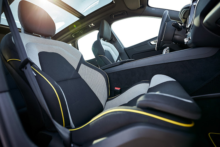 Volvo uses fibres from recycled plastic bottles in some of its seats.