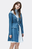 RAINS - Curve Jacket Faded Blue