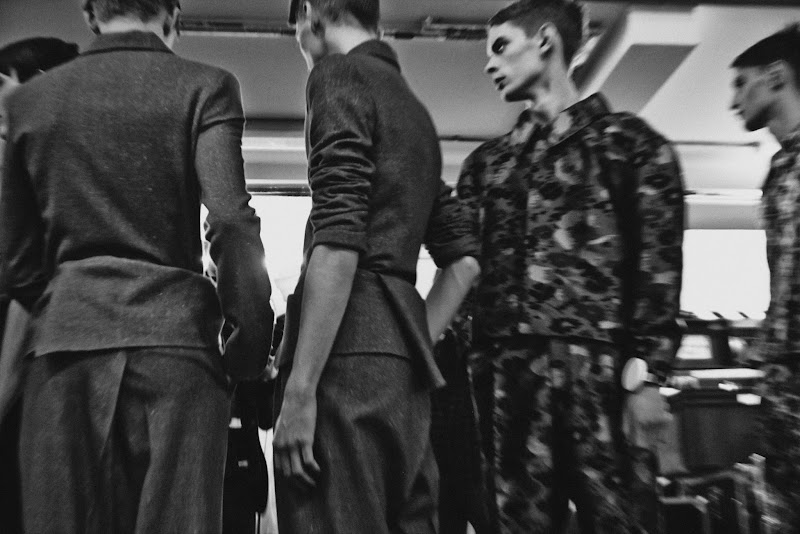 Photo: J.W.ANDERSON AW 2014 MENS BACKSTAGE http://www.j-w-anderson.com/1/fall-2014/collection.html