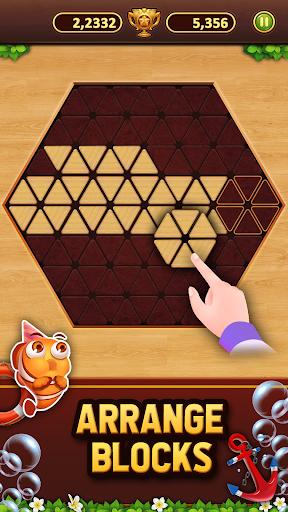 Trigon Wood: Triangle Block Puzzle screenshot 1