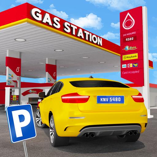 station-essence simulateur de conduite automobile