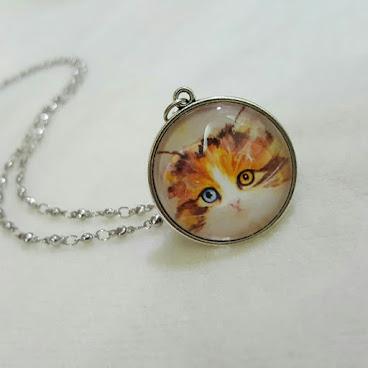 手繪畫 ♡ 貓貓頸鏈 ♡ Handmade Necklace