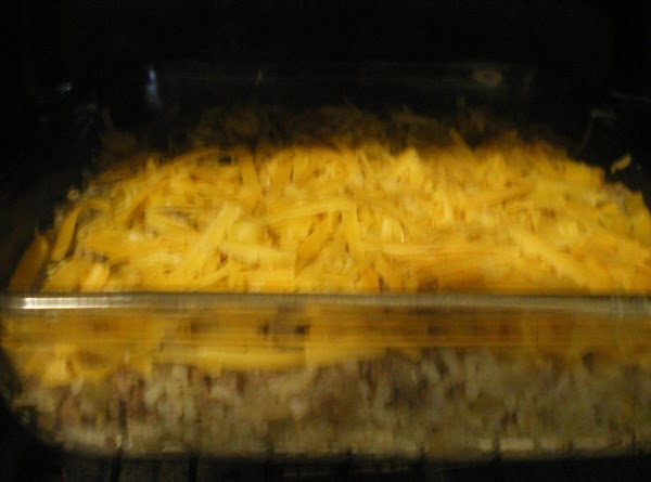 Top with remaining 1/2 cup shredded cheese.  Bake 20 minutes until cheese is...