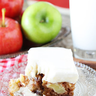 Apple Cake with Cream Cheese Frosting.
