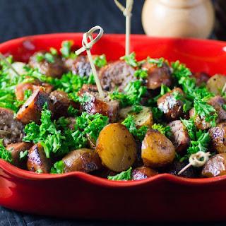 Simple BBQ Potato Sausage Appetizer.
