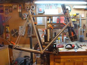 Photo: Seatstays are slotted for the dropouts and fitted up as well.