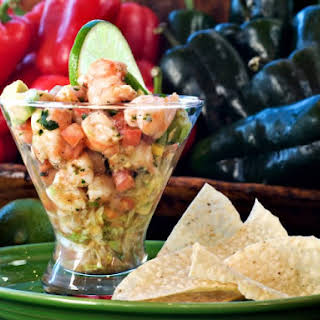 Shrimp And Crab Ceviche With Avocado.