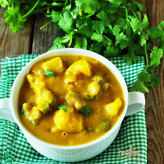 Bitter Melon/Karela Potato Curry