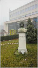 Photo: Piata 1 Decembrie 1918, spatiu verde  - Portretul lui Mihai Eminescu - 2018.01.09