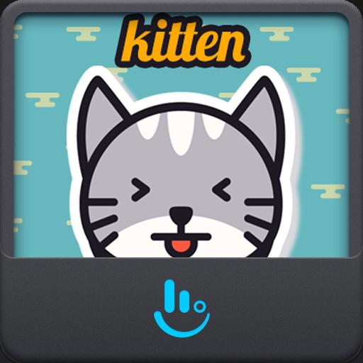 Cute Kitten TouchPal Keyboard Sticker