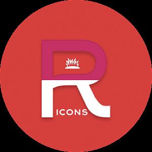 OJ Red – Round Icon pack v1.0 APK