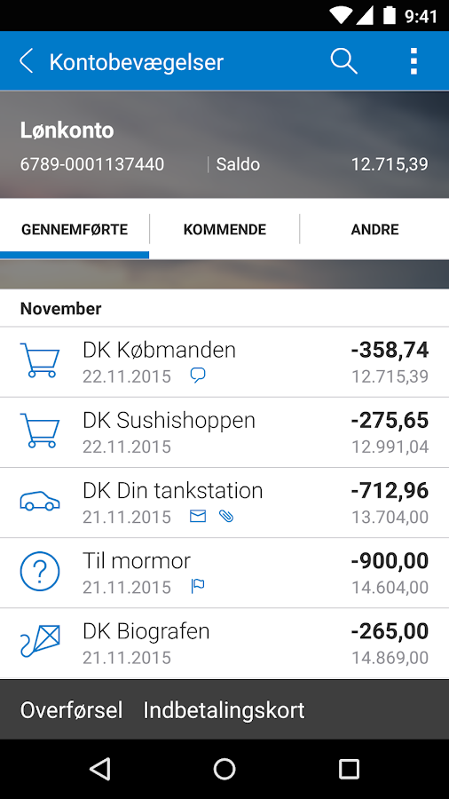 Sydbanks MobilBank- screenshot
