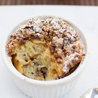Apple Streusel Bread Pudding