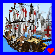 Warships of Middle Ages. Map for MCPE