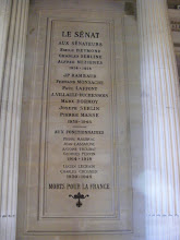 Photo: War memorials are everywhere in France, and the Senate building is no exception.