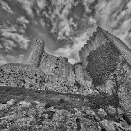 Obidos/Portugal  by Gjunior Photographer - Black & White Buildings & Architecture ( black and white, lanscape, building, architecture )