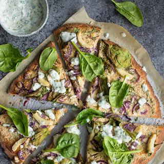 Vegan Ranch Pizza.