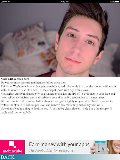 玩免費遊戲APP|下載Apply makeup as a man app不用錢|硬是要APP
