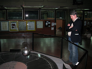 Photo: Jason daydreaming about scalability while looking at the Foucault pendulum
