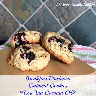 Breakfast Blueberry Oatmeal Cookies.