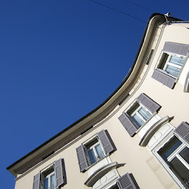 Lugano, Ticino, Switzerland by Serguei Ouklonski - Buildings & Architecture Other Exteriors ( sky, outdoors, blue, white, building, architecture )