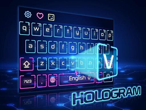 Neon Keyboard Theme 10001005 screenshots 2