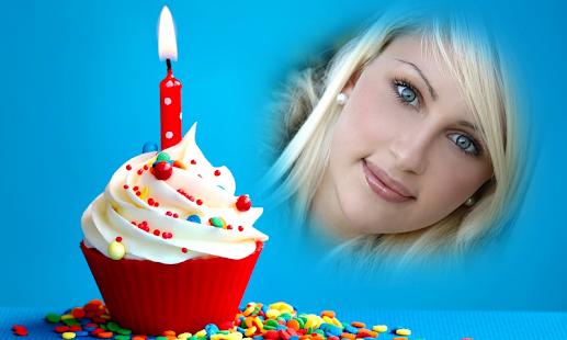 Název fotografie na narozeninový dort Photo Editor - náhled