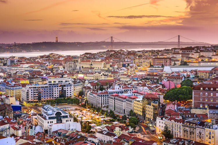 The Lisbon skyline in Portugal, a country recognised as one of the most desirable retirement locations. Picture: 123RF/SEAN PAVONE