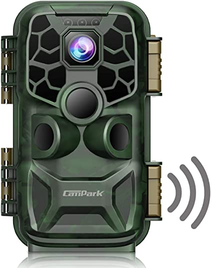 """Campark 4K Lite Trail Camera-24MP WiFi Bluetooth Game Camera with Night Vision Motion Activated Hunting Camera 120° Wildlife Monitoring 2.4""""LCD Screen IP66 Waterproof"""