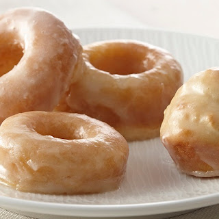 Mini Baked Donuts with Vanilla Glaze