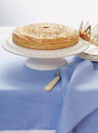 French King Cake with Nuts (Galette des rois)
