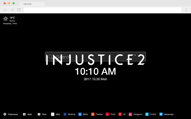 INJUSTICE2 Top HD Games New Tabs Theme
