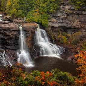Blackwater Falls by Patrick Morgan - Digital Art Places ( water, waterfalls, west virginia, fall, fine art, landscape )