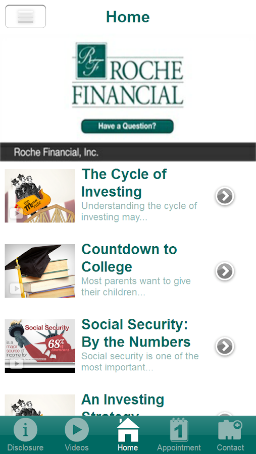 Roche Financial, Inc.- screenshot