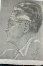 Photo: Portrait, Bleistift, Kohle, Kreide, 1959 - verkauft