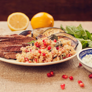 Persian Lamb With Aubergine, Pomegranate & Mint Quinoa