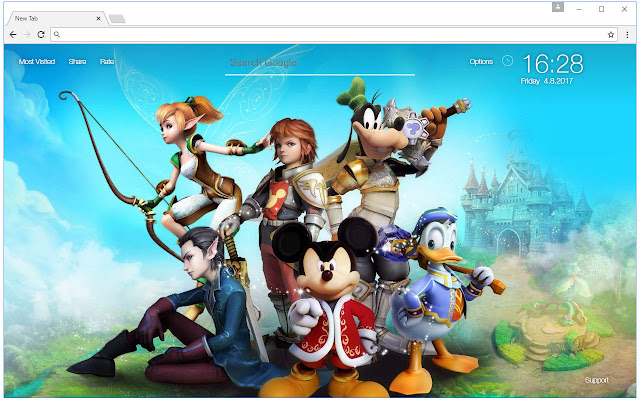Kingdom Hearts Wallpaper HD New Tab Themes