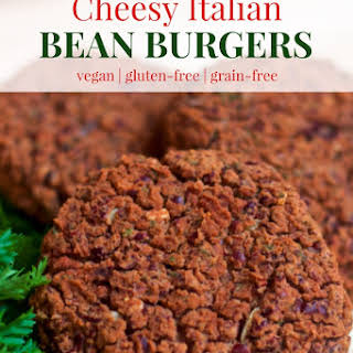 Cheesy Italian Bean Burgers.