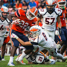 First Down Yardage by Elk Baiter - Sports & Fitness American and Canadian football ( briar woods, football, high school, varsity, sports, wolverines, falcons, north stafford, athlete )
