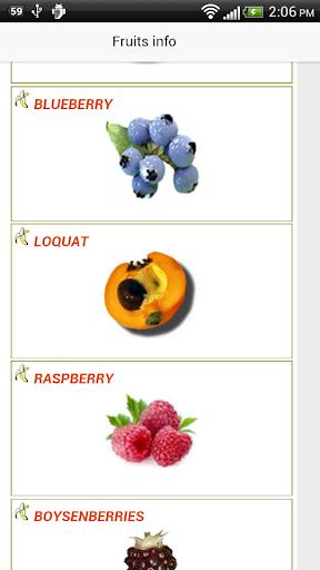 Fruits Info Benefits