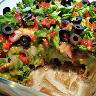 Mexican 7 Layer Dip.
