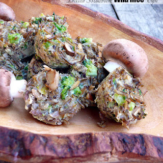 Broccoli Mushroom Wild Rice Cups