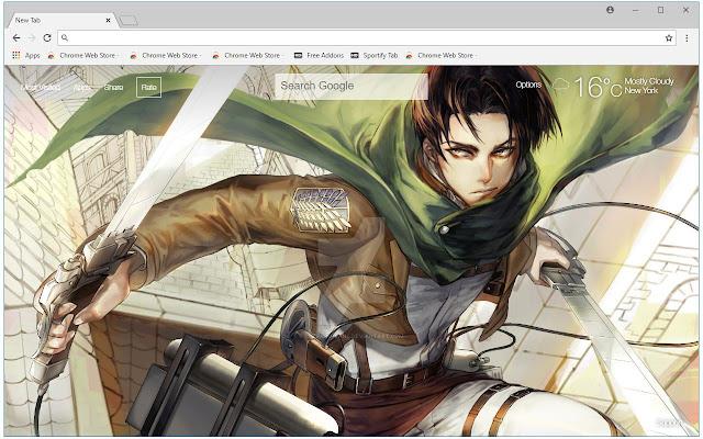 Attack On Titan Levi Wallpapers Hd Aot Newtab