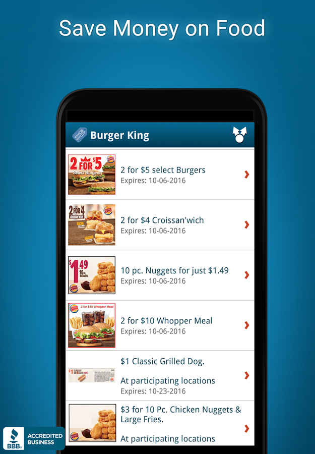 Restaurant Coupons & Deals- screenshot