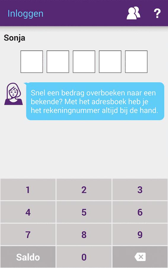 SNS Mobiel Bankieren- screenshot