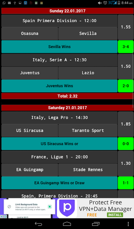 Daily Betting Tips - 2 Odds- screenshot