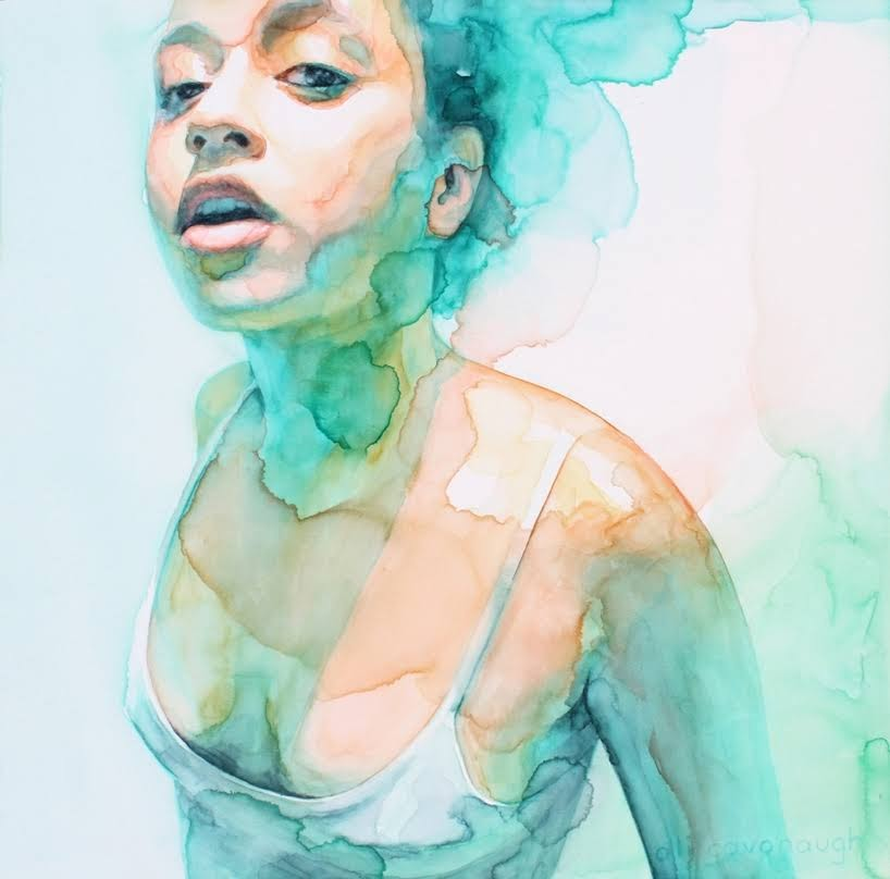 Mujeres luminosas en capas de pigmentos translúcidos de Ali Cavanaugh