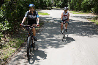 Photo: Sharon and Mary going for their first ride of the event